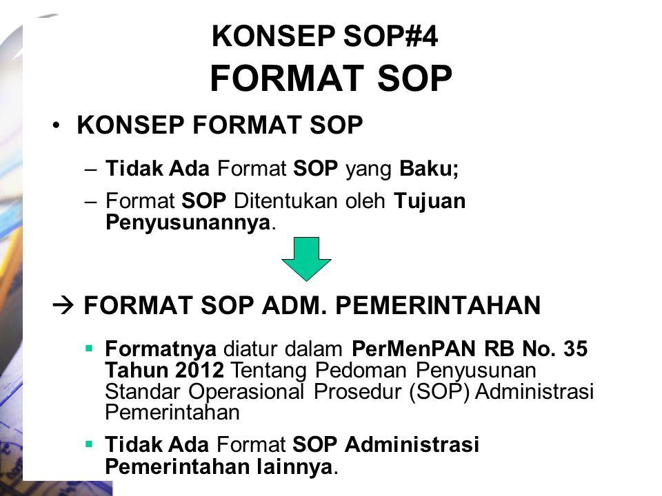 FORMAT SOP KONSEP SOP#4 KONSEP FORMAT SOP