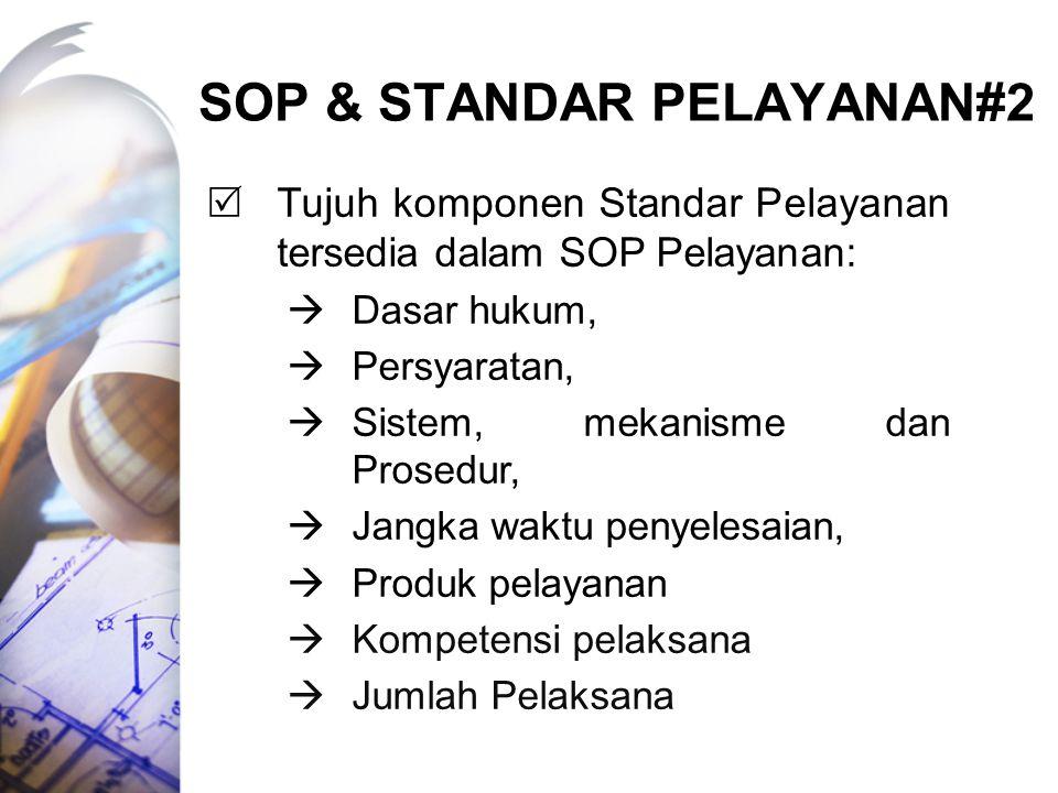 SOP & STANDAR pELAYANAN#2
