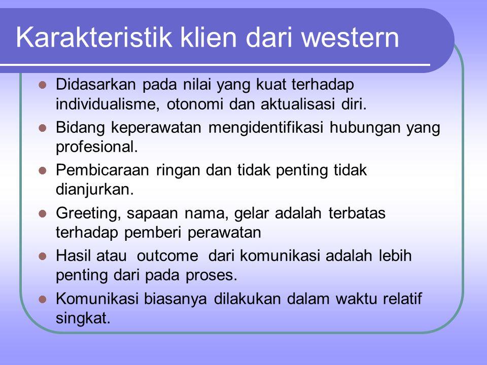 Karakteristik klien dari western