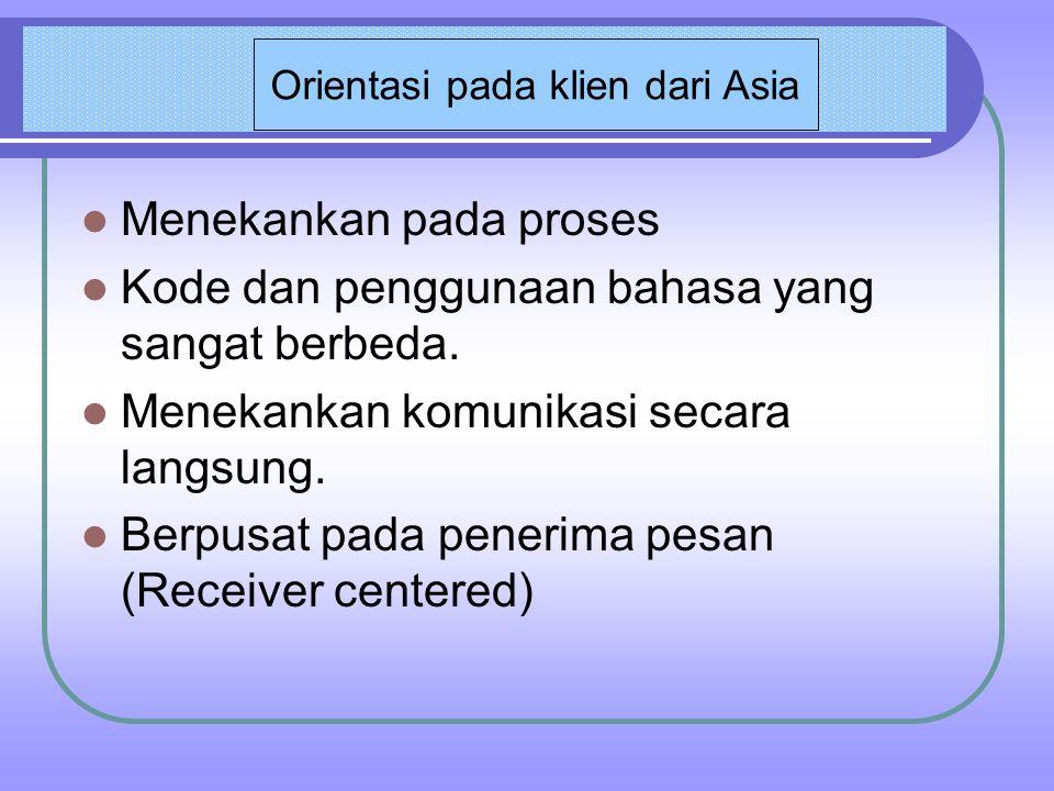 Orientasi pada klien dari Asia