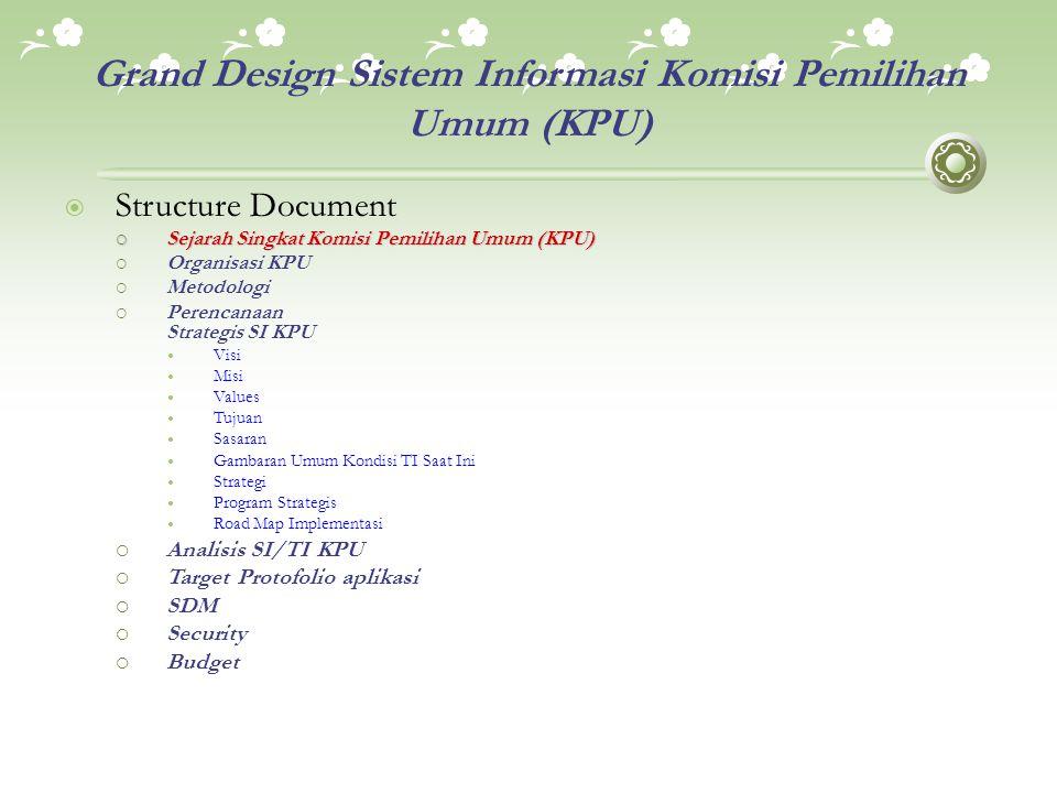 Grand Design Sistem Informasi Komisi Pemilihan Umum (KPU)