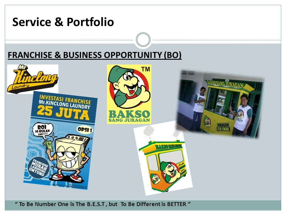 Service & Portfolio FRANCHISE & BUSINESS OPPORTUNITY (BO)