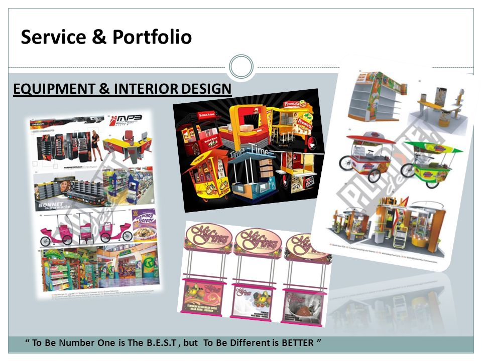 Service & Portfolio EQUIPMENT & INTERIOR DESIGN