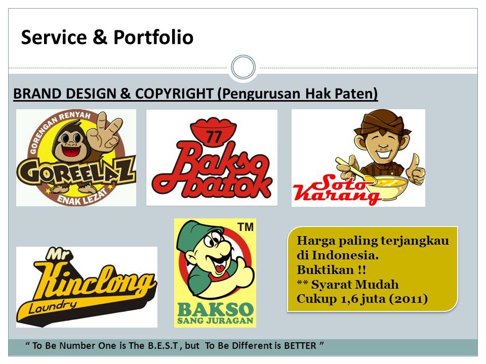 Service & Portfolio BRAND DESIGN & COPYRIGHT (Pengurusan Hak Paten)