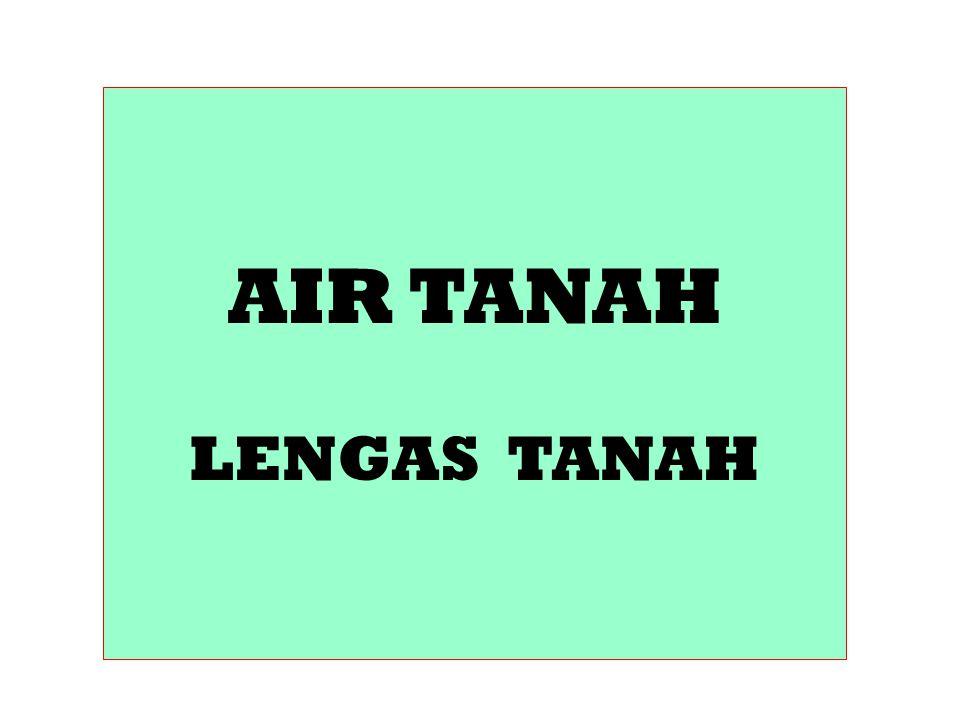 AIR TANAH LENGAS TANAH