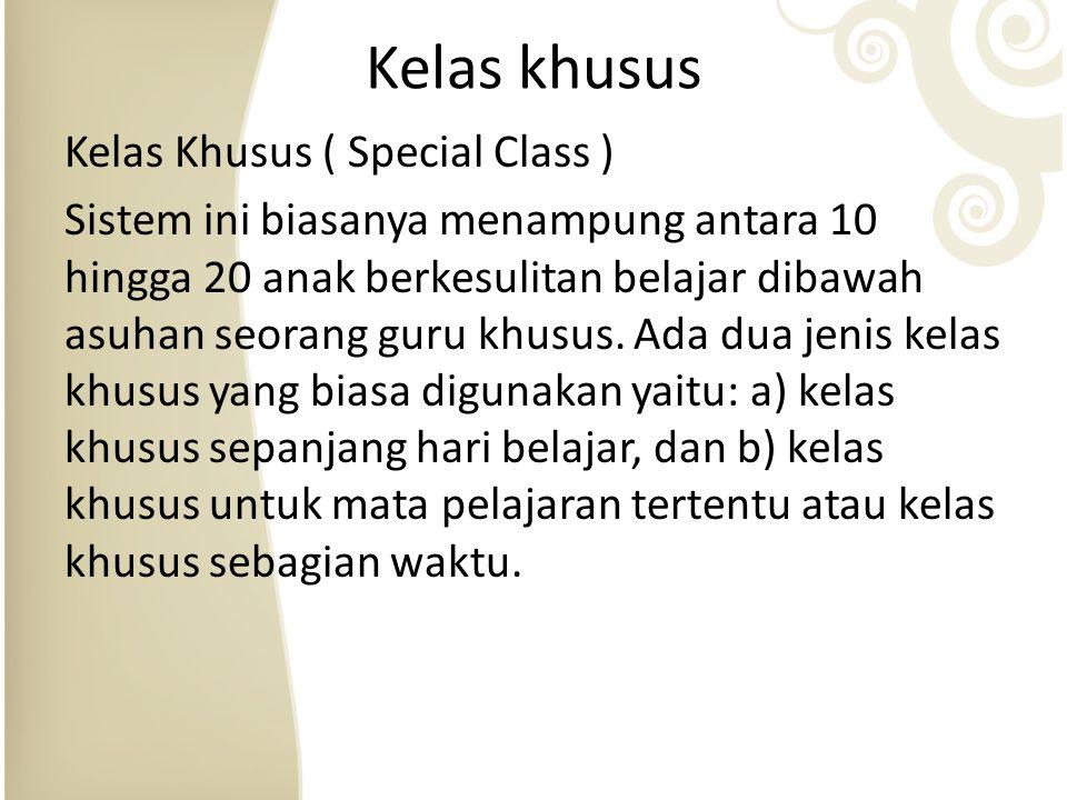 Kelas khusus