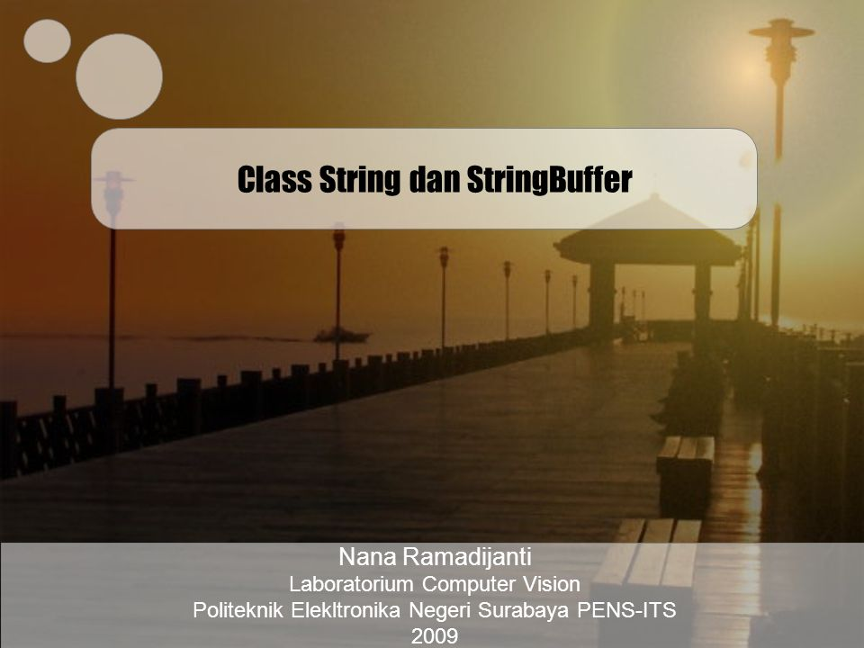 Class String dan StringBuffer