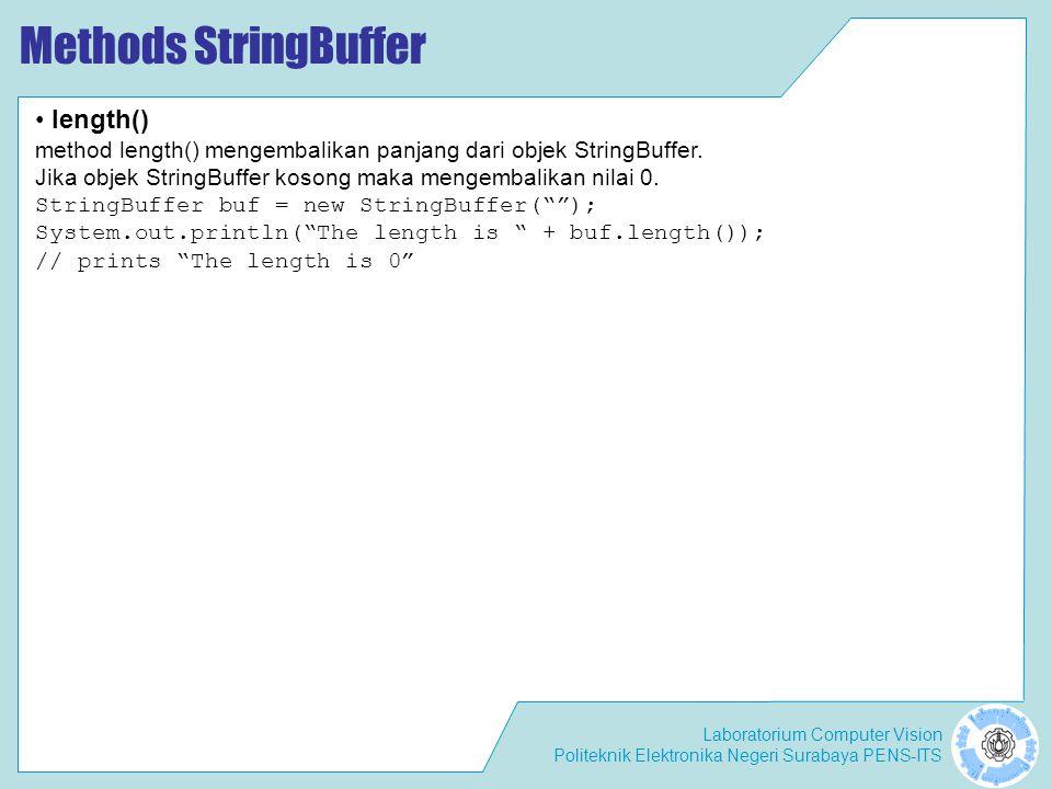 Methods StringBuffer length()