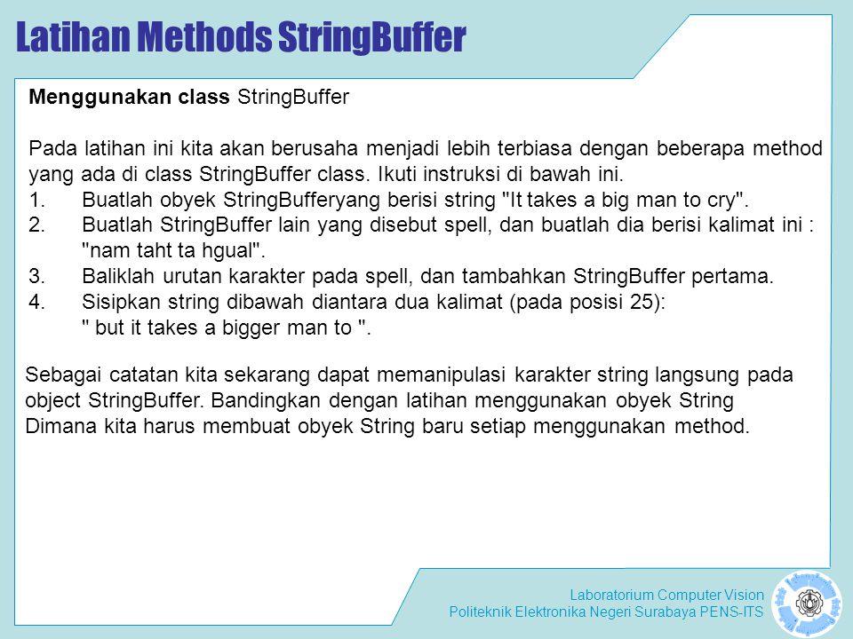 Latihan Methods StringBuffer