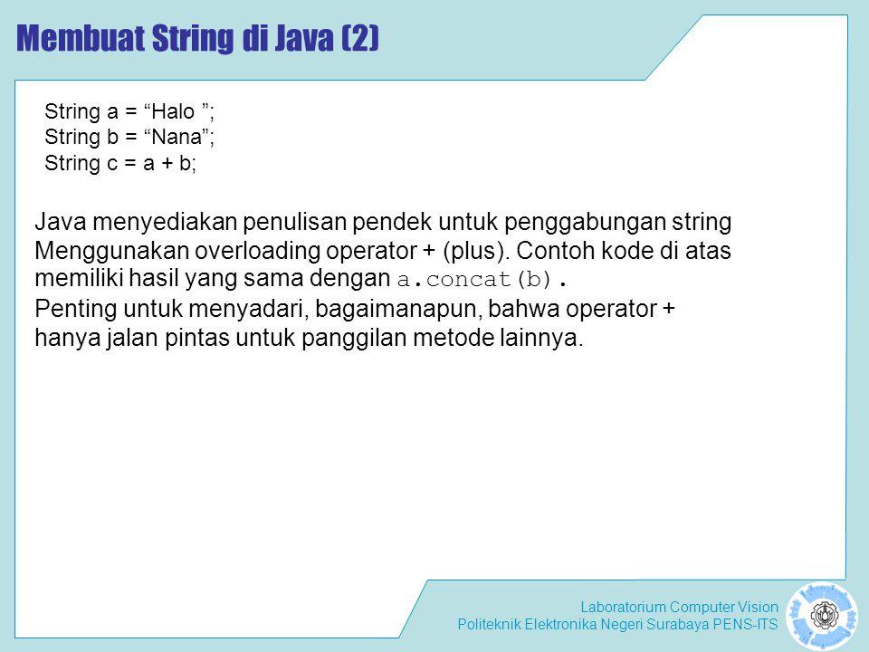 Membuat String di Java (2)