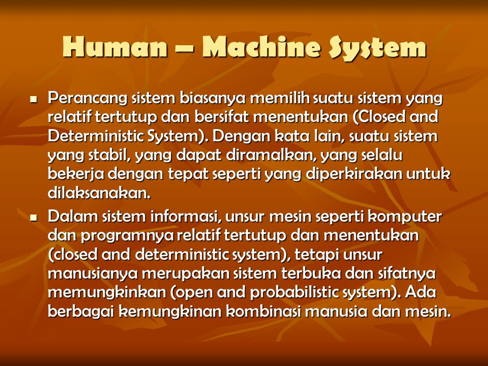 Human – Machine System