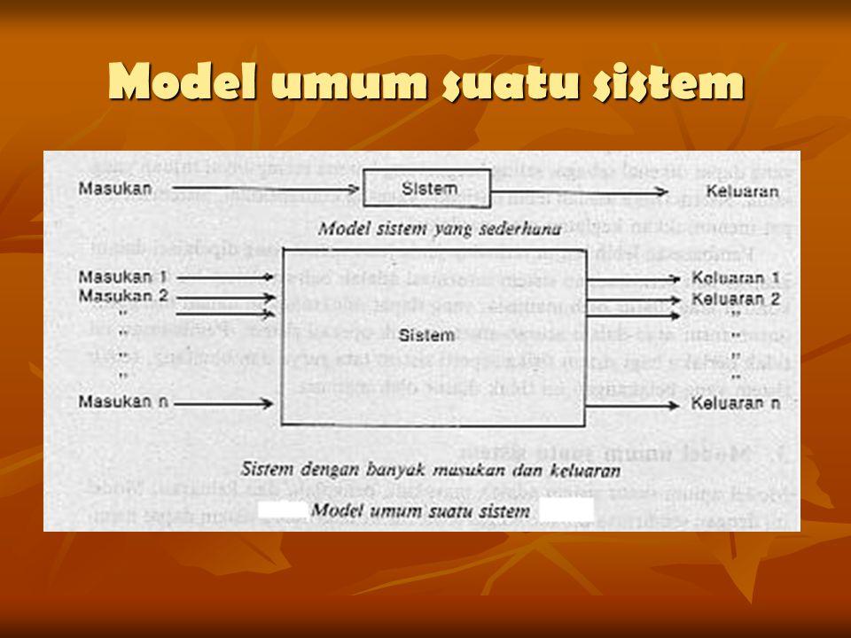 Model umum suatu sistem