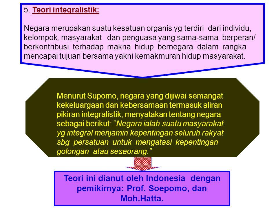 5. Teori integralistik: