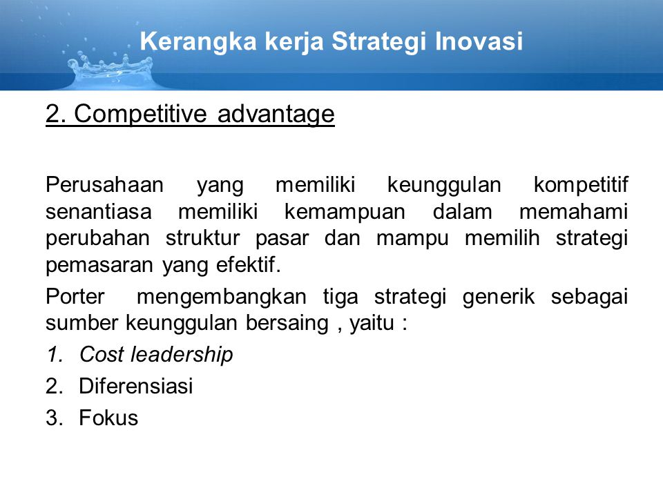 Kerangka kerja Strategi Inovasi
