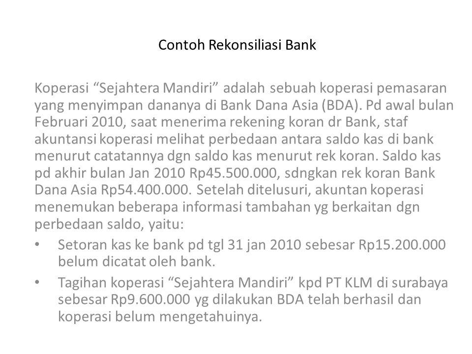 Contoh Rekonsiliasi Bank
