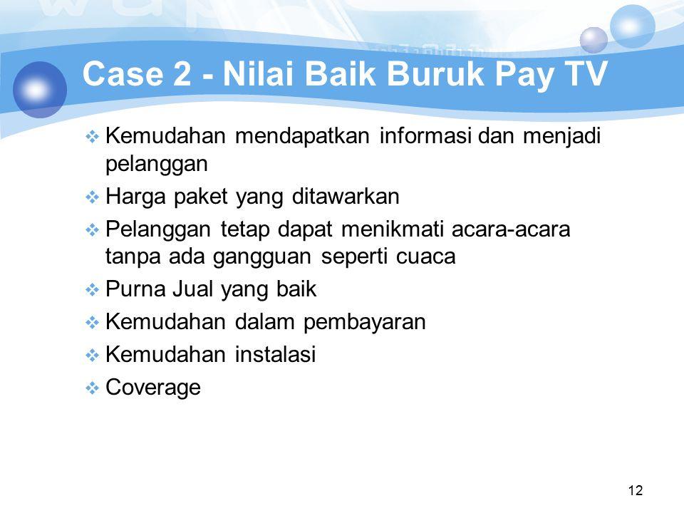 Case 2 - Nilai Baik Buruk Pay TV