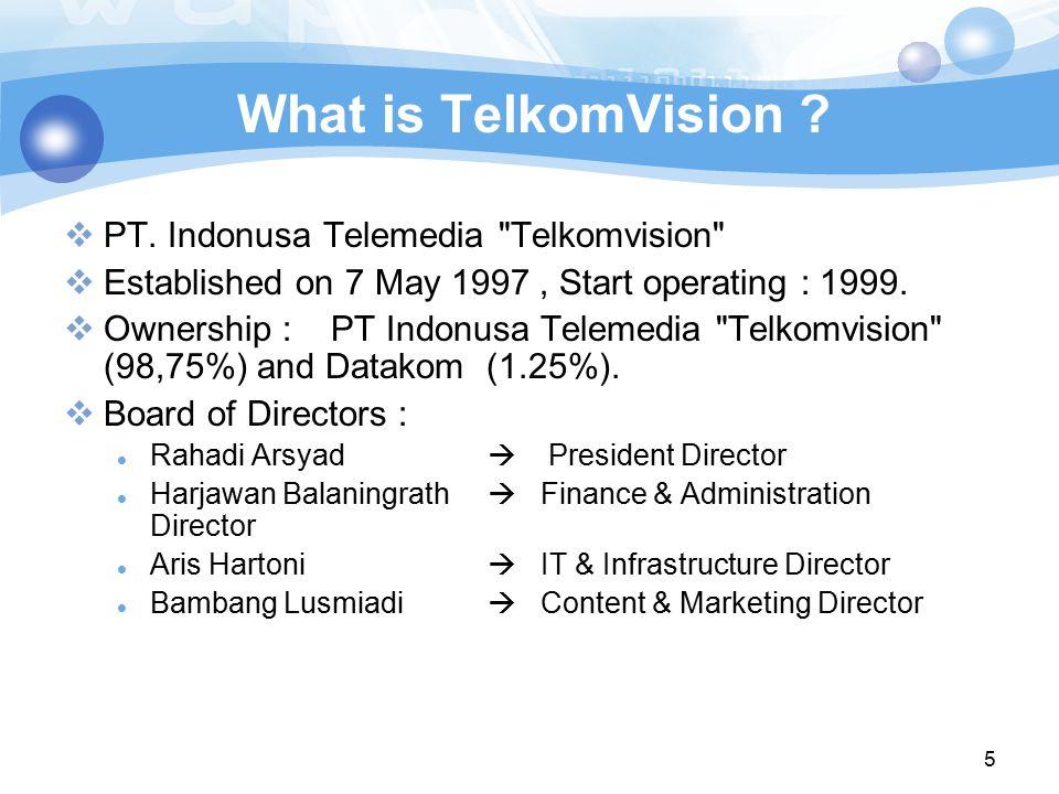 What is TelkomVision PT. Indonusa Telemedia Telkomvision