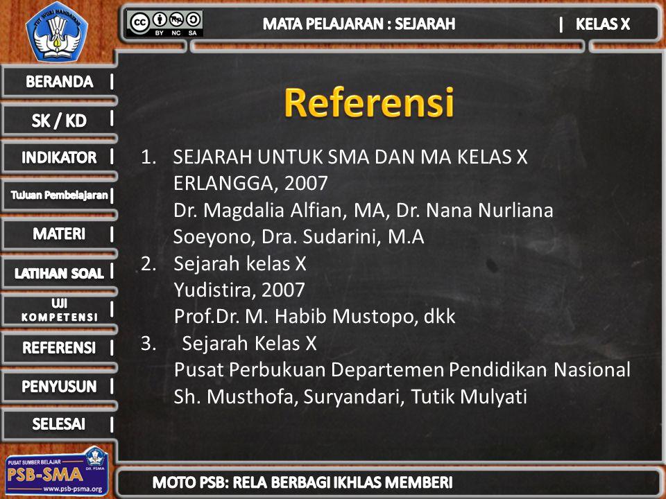 Referensi SEJARAH UNTUK SMA DAN MA KELAS X ERLANGGA, 2007
