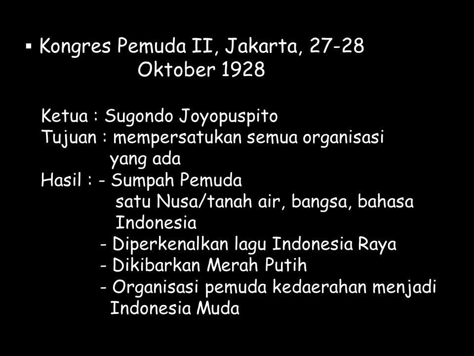 Oktober 1928 Kongres Pemuda II, Jakarta, 27-28