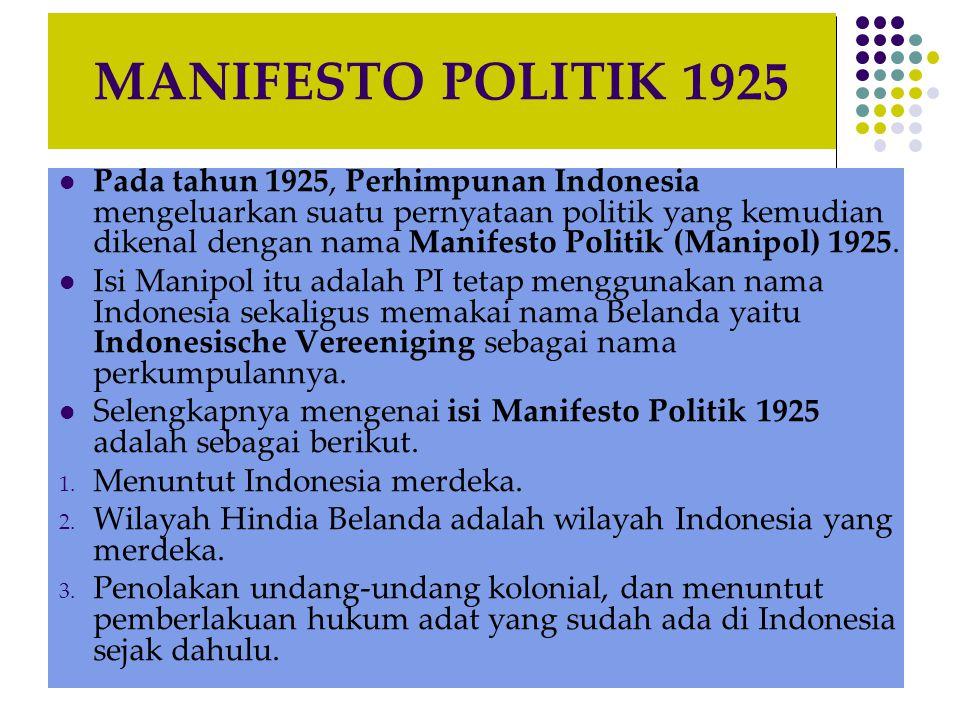 MANIFESTO POLITIK 1925