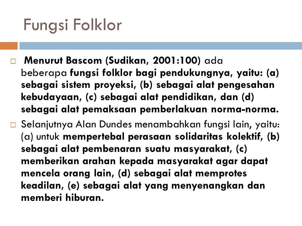 Fungsi Folklor