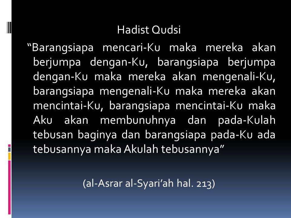 (al-Asrar al-Syari'ah hal. 213)