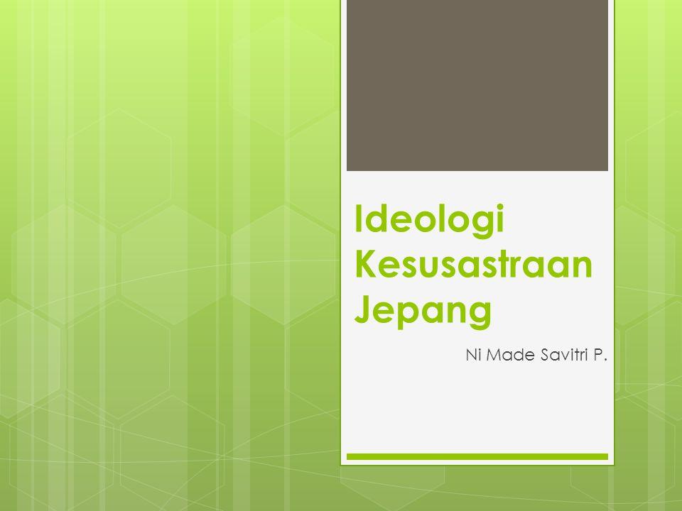 Ideologi Kesusastraan Jepang