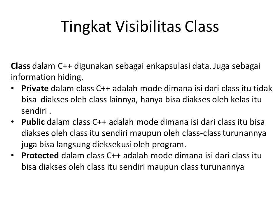 Tingkat Visibilitas Class