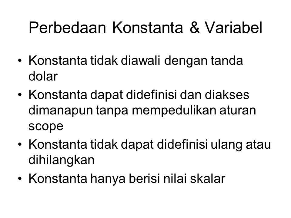 Perbedaan Konstanta & Variabel