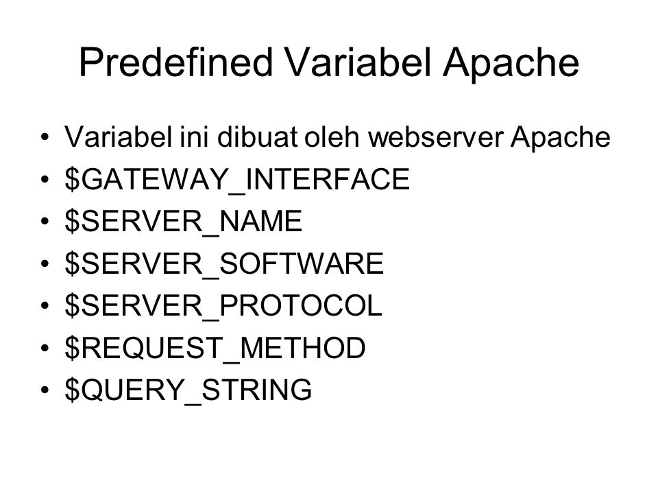 Predefined Variabel Apache
