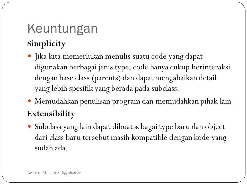 Keuntungan Simplicity