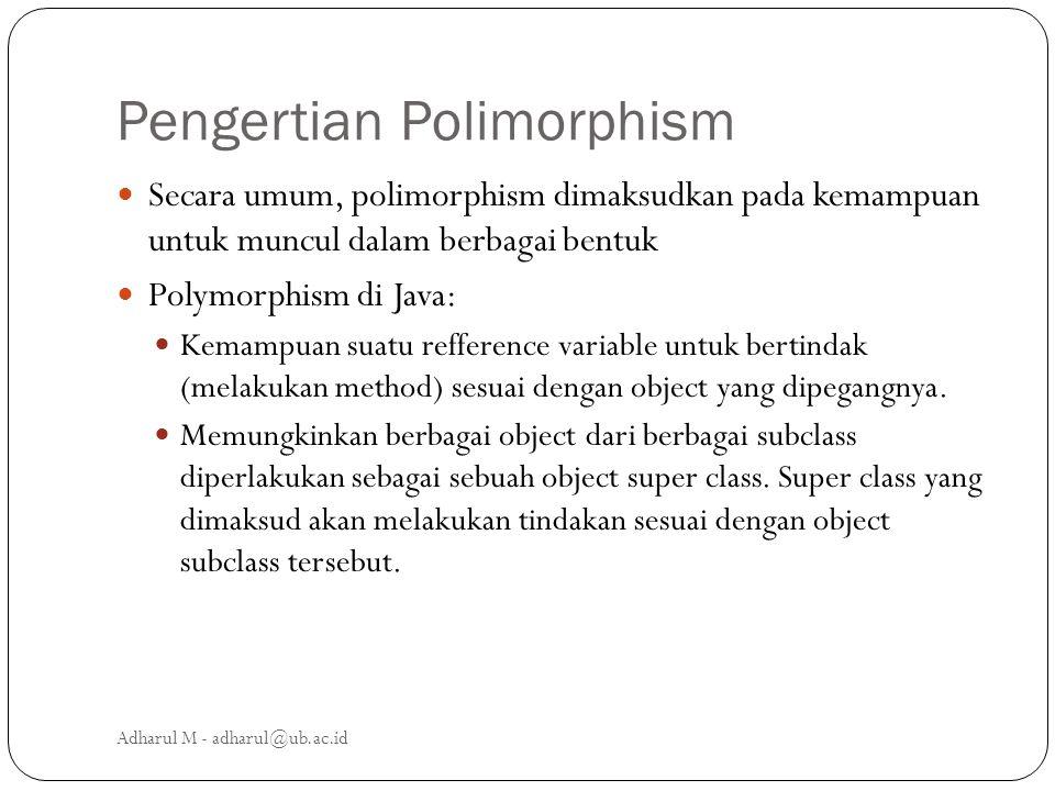 Pengertian Polimorphism