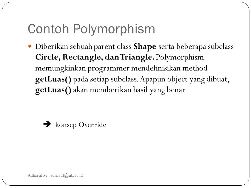 Contoh Polymorphism