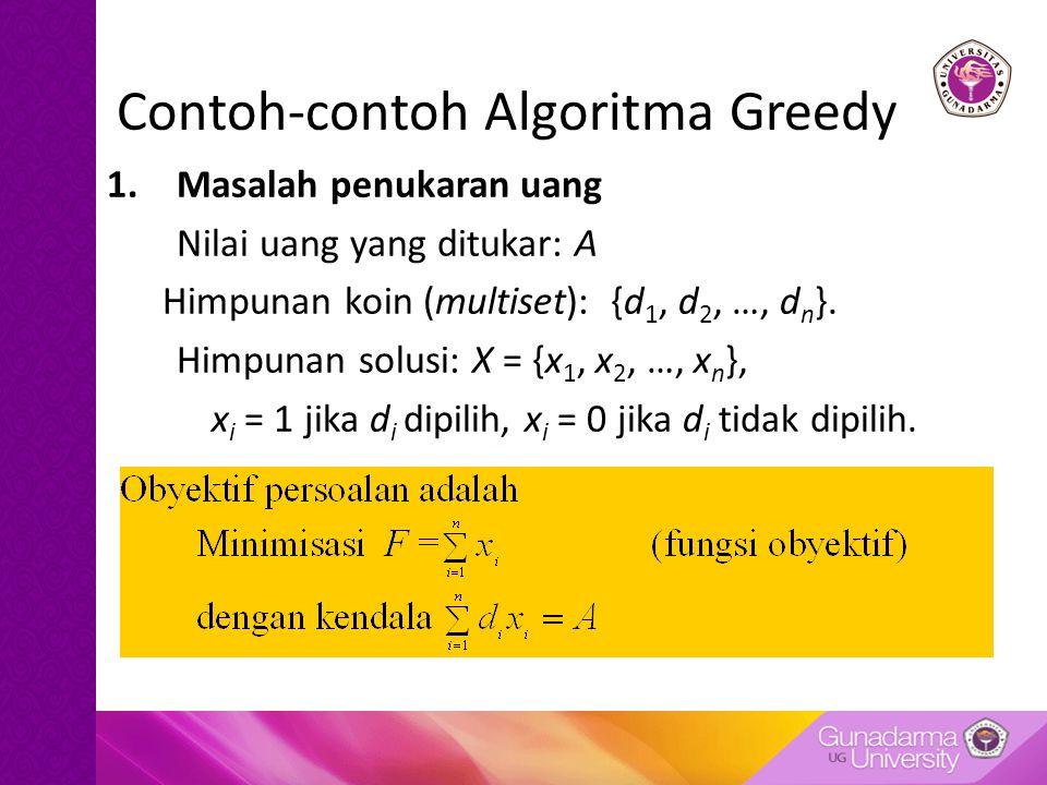 Contoh-contoh Algoritma Greedy