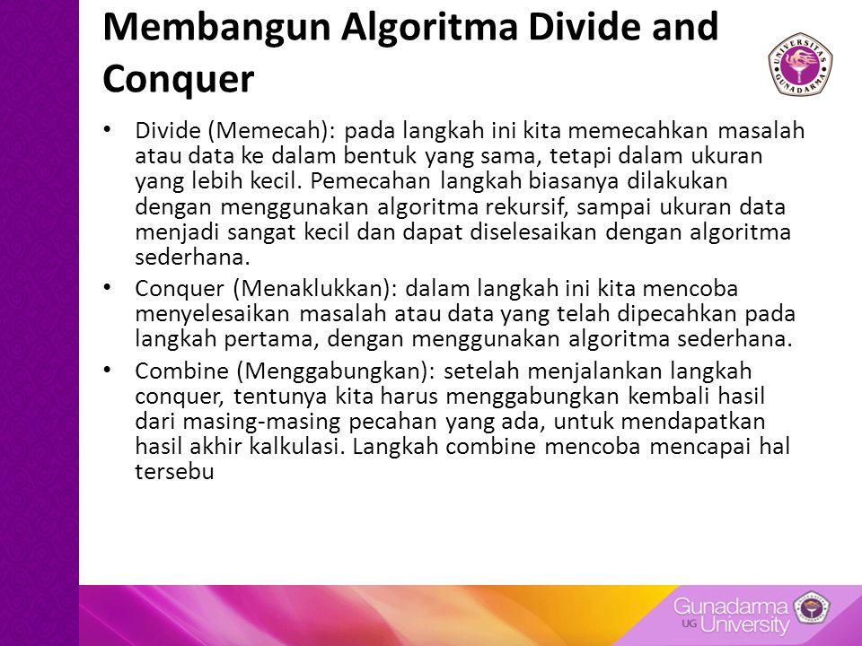 Membangun Algoritma Divide and Conquer