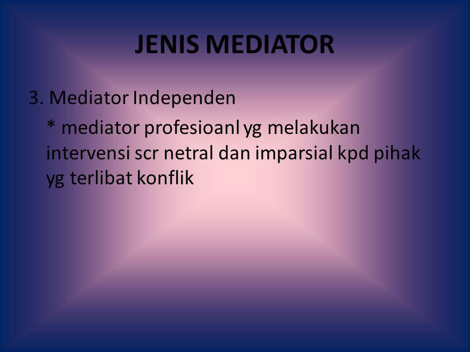 JENIS MEDIATOR 3.