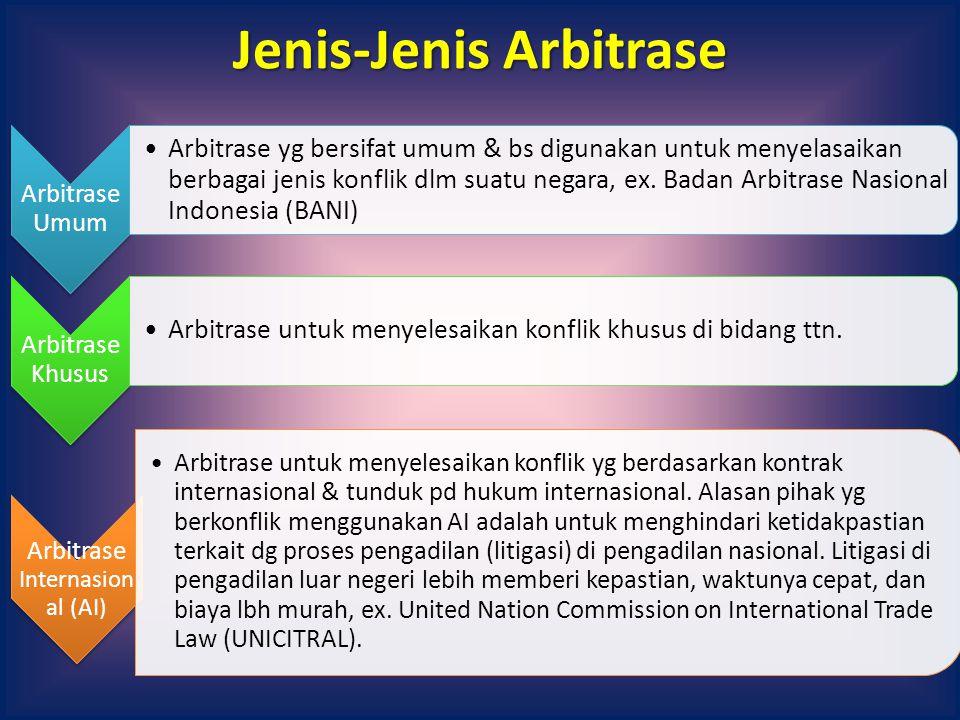 Jenis-Jenis Arbitrase