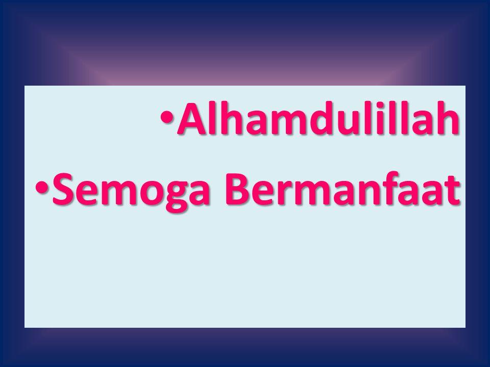 Alhamdulillah Semoga Bermanfaat
