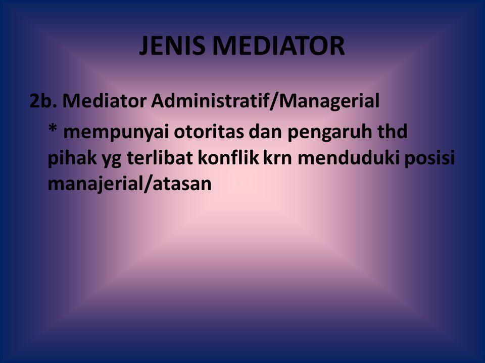 JENIS MEDIATOR