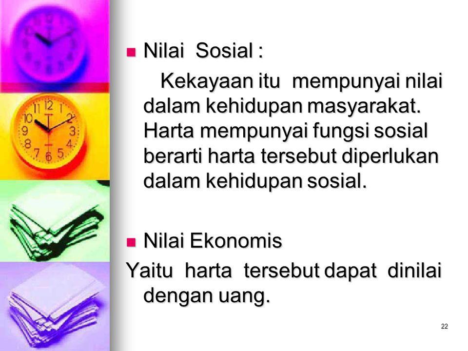 Nilai Sosial :