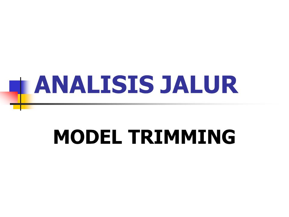 ANALISIS JALUR MODEL TRIMMING