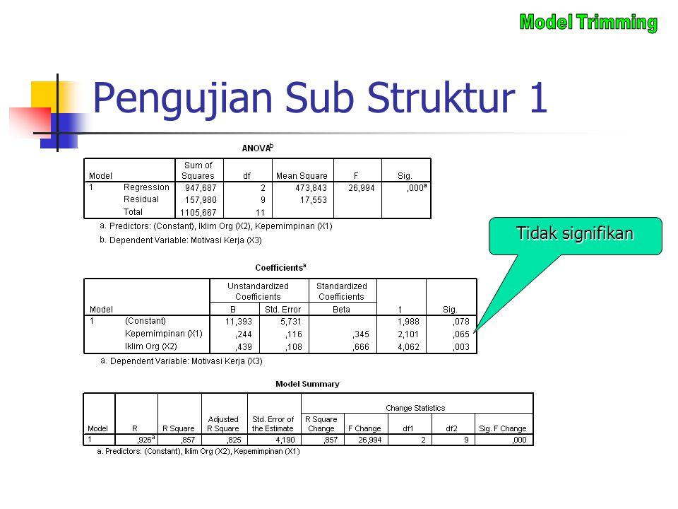 Pengujian Sub Struktur 1