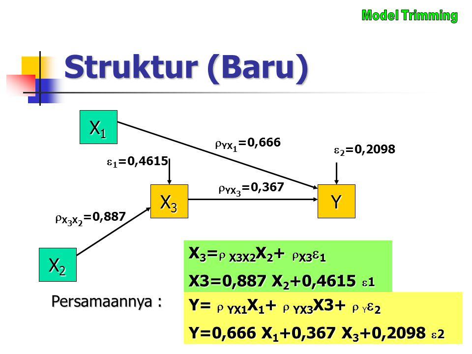 Struktur (Baru) X1 X3 Y X2 X3= X3X2X2+ X31 X3=0,887 X2+0,4615 1