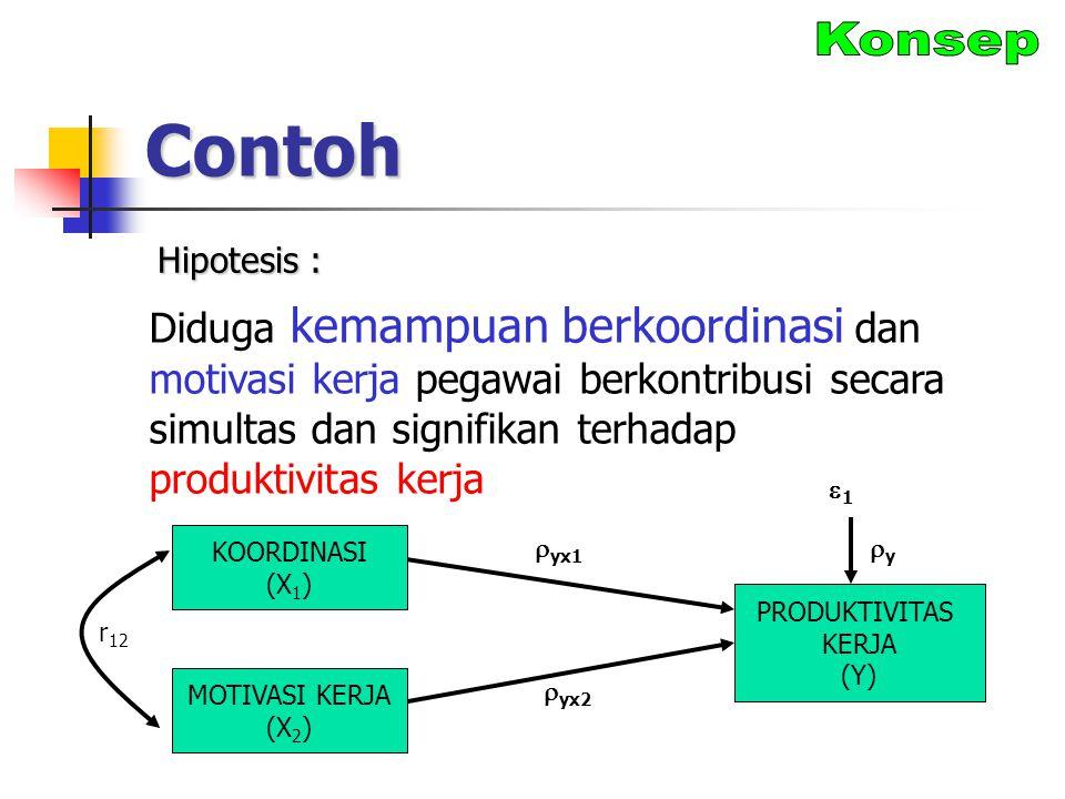 Contoh Konsep. Hipotesis :