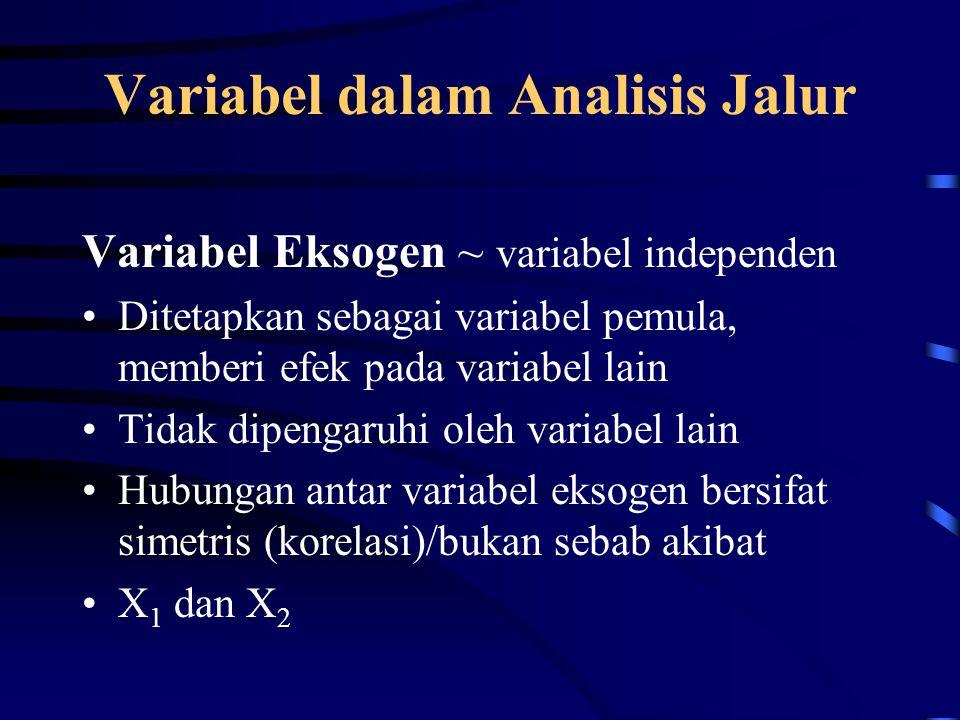 Variabel dalam Analisis Jalur