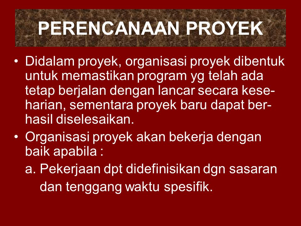 PERENCANAAN PROYEK