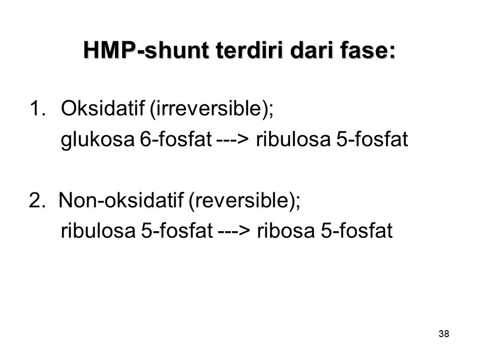 HMP-shunt terdiri dari fase: