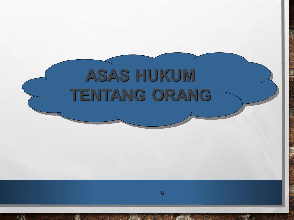 ASAS HUKUM TENTANG ORANG