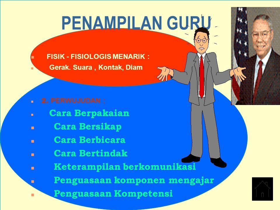 PENAMPILAN GURU FISIK - FISIOLOGIS MENARIK : Cara Bersikap