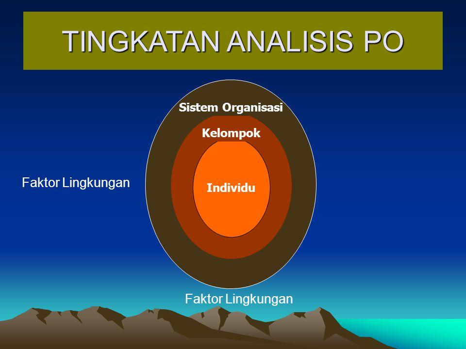 TINGKATAN ANALISIS PO Faktor Lingkungan Faktor Lingkungan